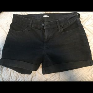 Black old navy shorts